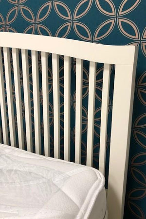 DOVER IVORY DOUBLE BEDFRAME