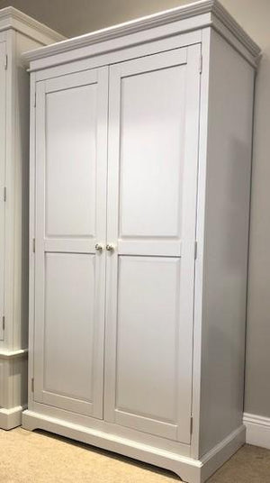 DOVER GREY 2 DOOR WARDROBE