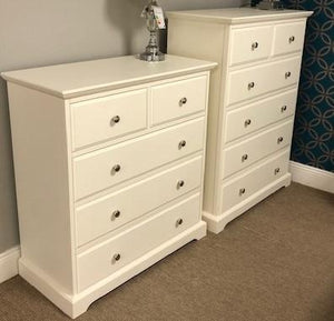 DOVER IVORY 3+2 CHEST OF DRAWERS