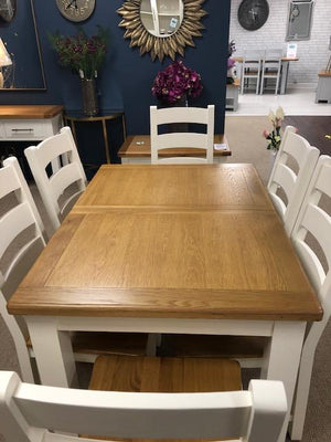HARVEST IVORY SMALL EXTENDABLE DINING SET