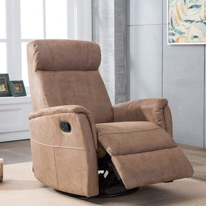 Marley Swivel Reclining Armchair Chocolate