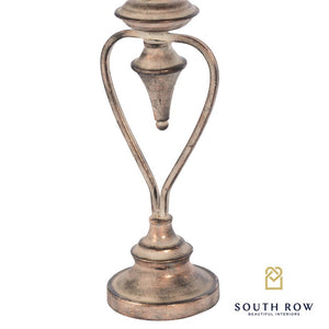 HARRIET HARP CANDLE HOLDER - ANTIQUE COPPER