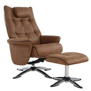 Orson Chair with Footstool Chocolate