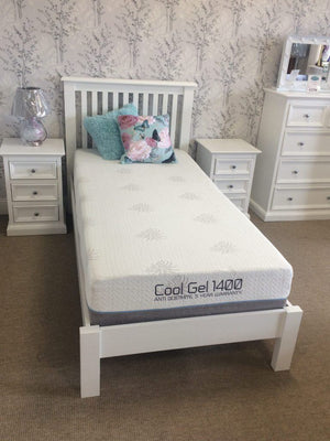 TRENT WHITE SINGLE BEDFRAME