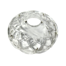 Load image into Gallery viewer, Crystal Bobeche 4.25 inches Clear with 26mm Center Hole, 5 Gold Pins
