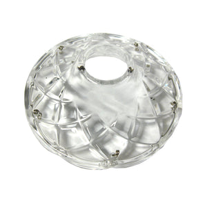 Crystal Bobeche 4.25 inches Clear with 26mm Center Hole, 5 Gold Pins