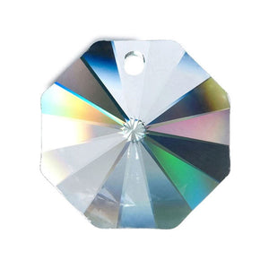 Octagon Crystal 28mm Clear Prism with One Hole