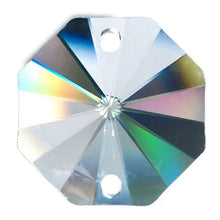 Load image into Gallery viewer, Octagon Crystal 32mm Clear Prism with Two Holes