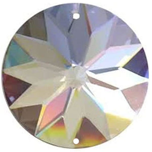Sun Shine Round Crystal 45mm Clear Prism with Two Holes