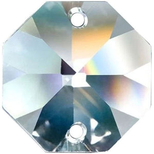 Swarovski Spectra Crystal 60mm Clear Octagon Lily prism Two Holes