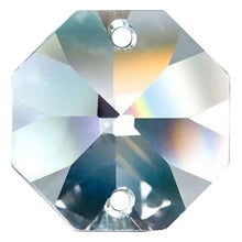Load image into Gallery viewer, Octagon Crystal 28mm Clear Prism with Two Holes