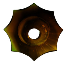 Load image into Gallery viewer, Crystal Bobeche 5.5 inches Amber with 26mm Center Hole