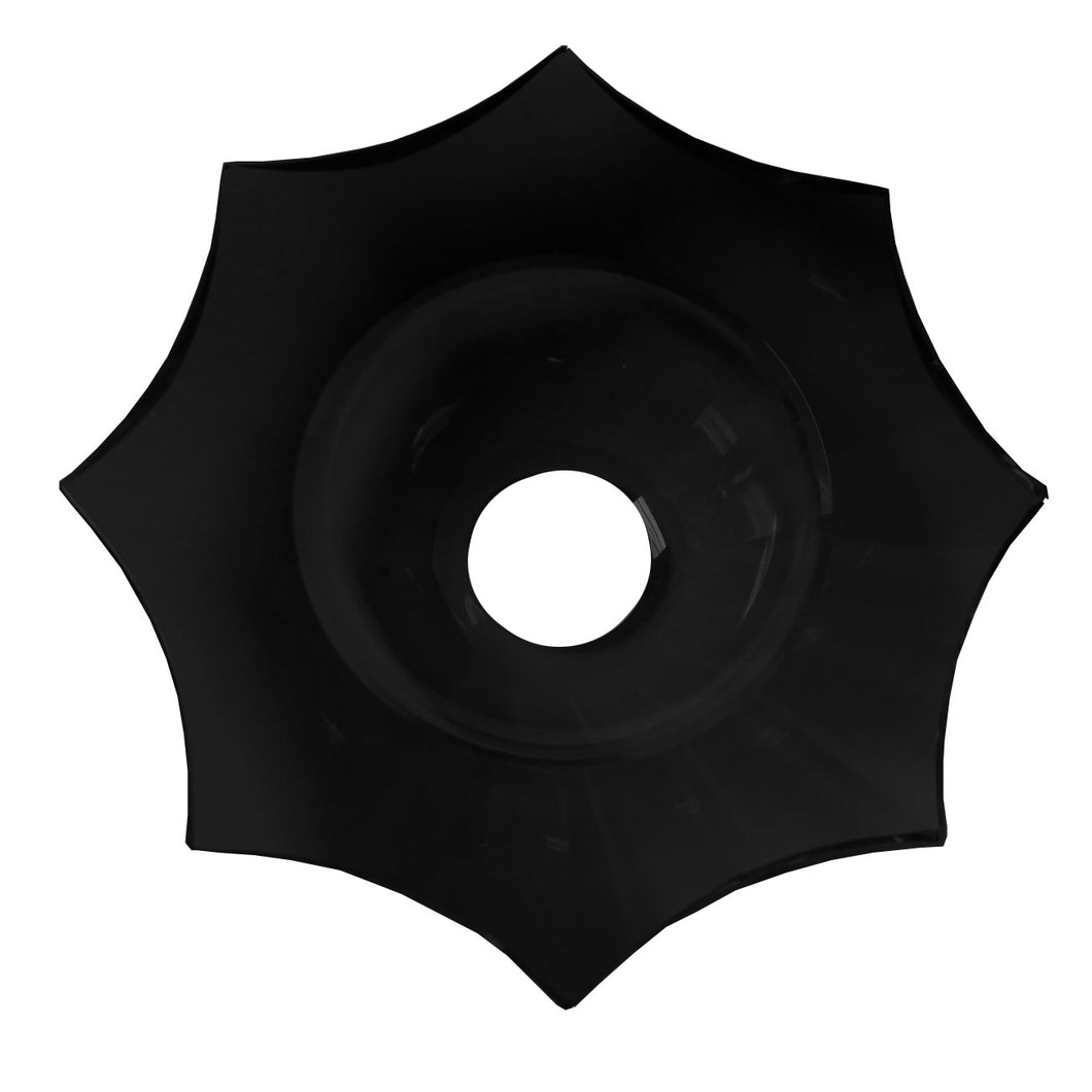 Crystal Bobeche 4.75inches Black with 30mm Center Hole