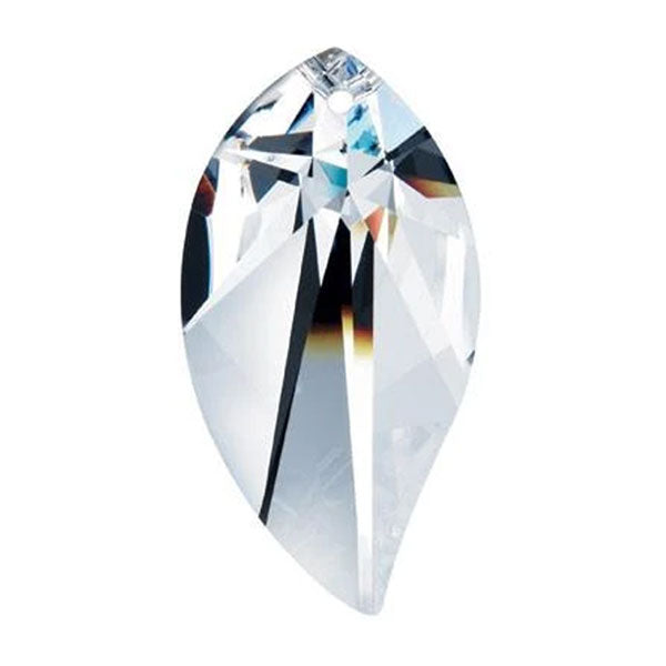 Leaf Crystal 3 inch Clear Prism with One Hole on Top