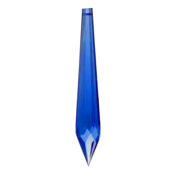 U Drop Crystal 2.5 inches Blue Prism with One Hole on Top