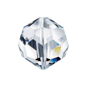 Swarovski Strass Crystal 8mm Clear Faceted Round Bead with Hole Through