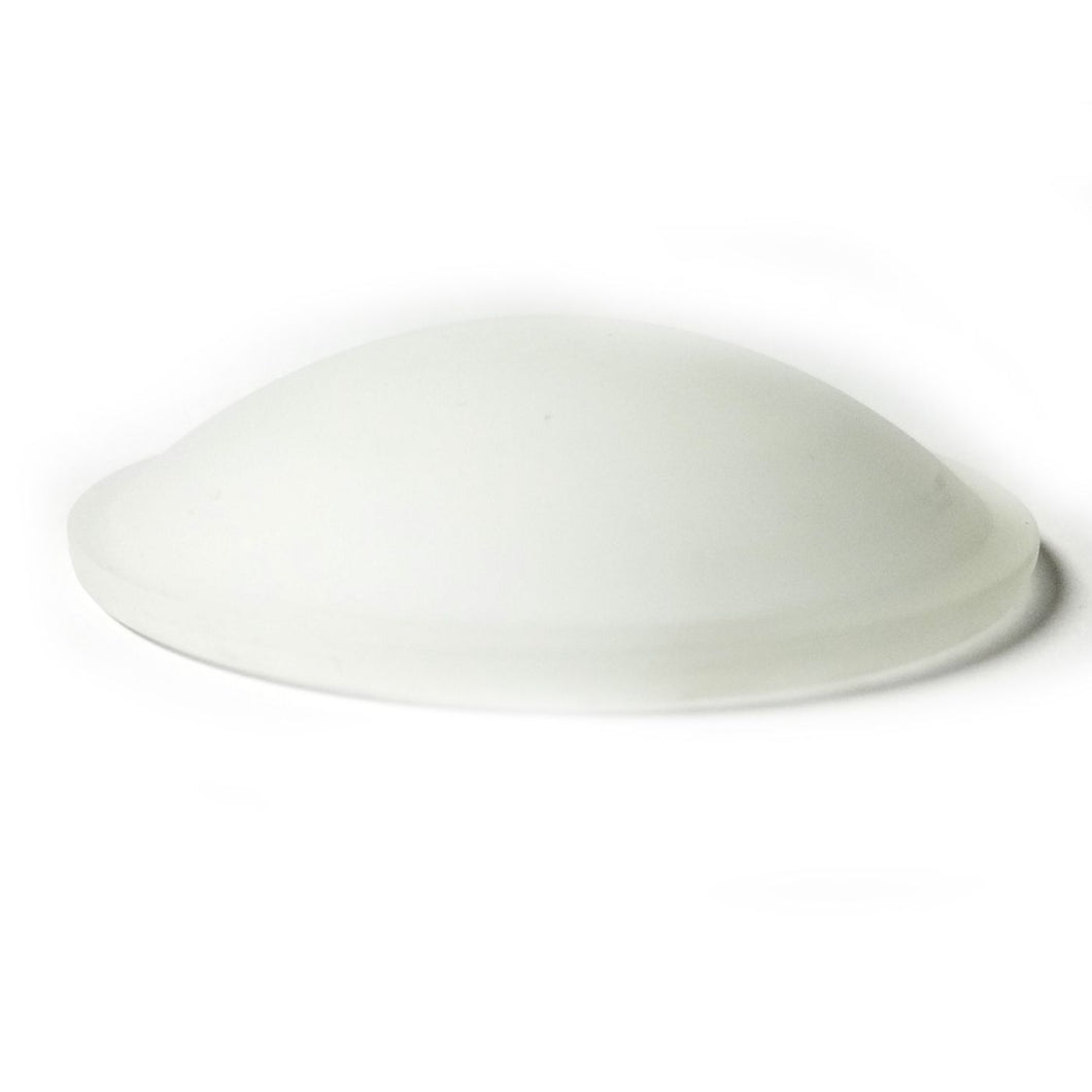 Glass Disk White Frost ideal for Arts - Crafts