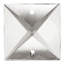 Load image into Gallery viewer, Square Crystal 26mm Clear Prism with Two Holes