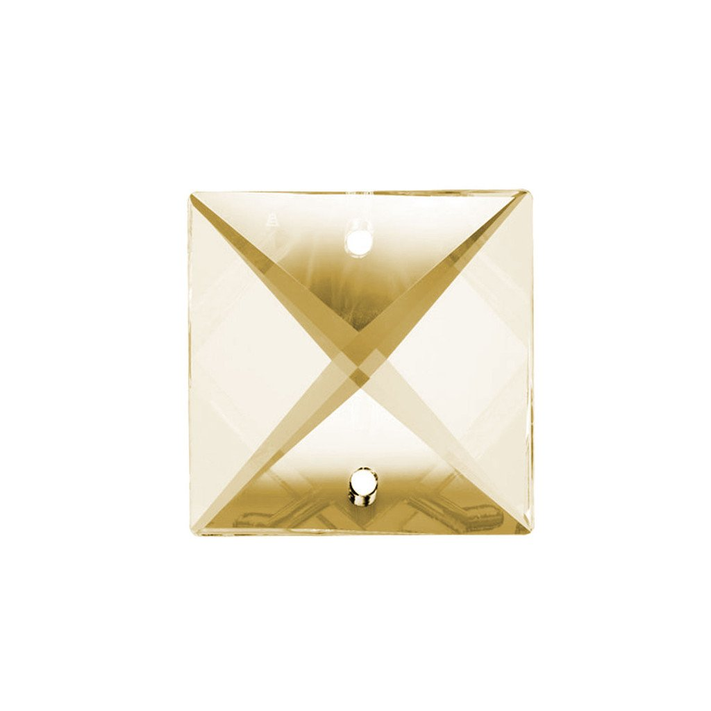Square Crystal 22mm Honey Prism with Two Holes