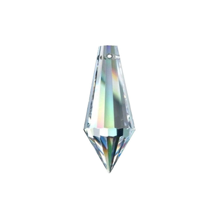 Icicle Crystal 20mm Clear Prism with One Hole on Top