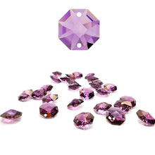 Load image into Gallery viewer, Swarovski Strass Crystal 14mm Lilac Octagon Lily Two Holes