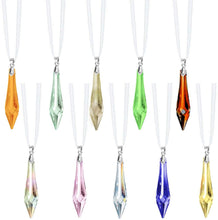 Load image into Gallery viewer, Swarovski Strass Prisms 10 Pcs Colorful Crystal Ornaments