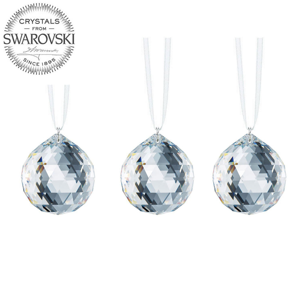 Swarovski Strass Prisms 3 Pcs Crystal Sun Catcher Clear 20mm Faceted Ball Prism Crystal Ornaments Rainbow Maker Package Deal