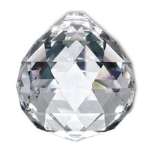 Load image into Gallery viewer, Faceted Ball Crystal 50mm Clear Prism with One Hole on Top
