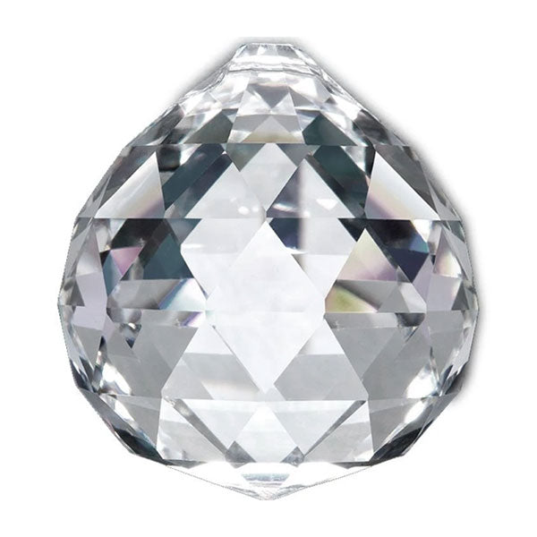 Faceted Ball Crystal 50mm Clear Prism with One Hole on Top