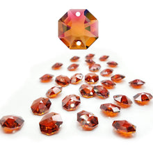 Load image into Gallery viewer, Swarovski Strass Crystal 14mm Red Magma Octagon Lily Two Holes