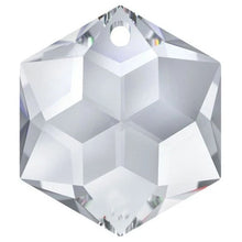 Load image into Gallery viewer, Swarovski Strass Crystal 28mm Clear Hexagon Star prism bead with One Hole