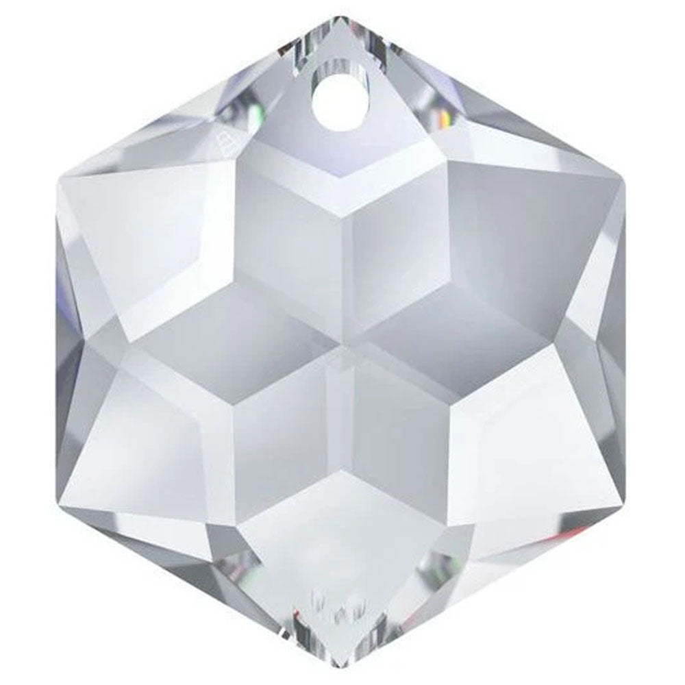 Swarovski Strass Crystal 28mm Clear Hexagon Star prism bead with One Hole