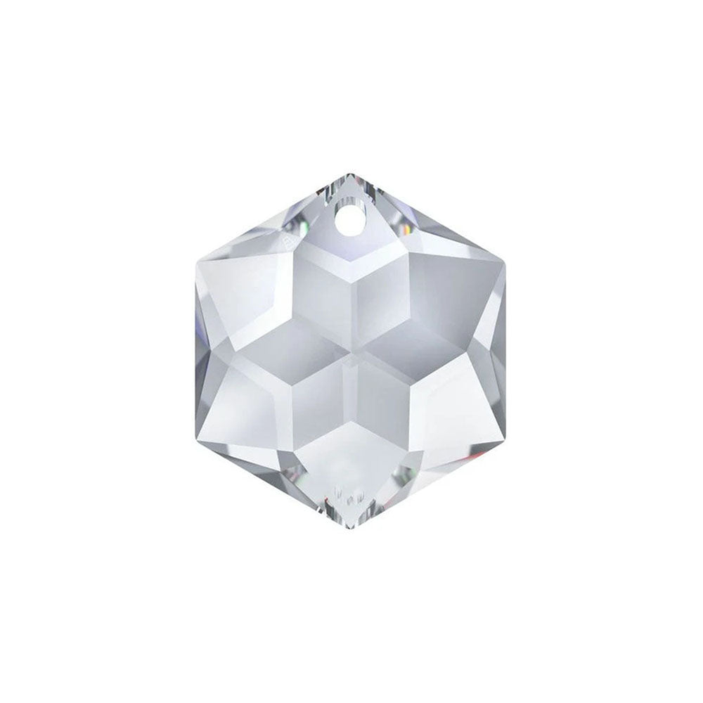 Swarovski Strass Crystal 14mm Clear Hexagon Star prism bead with One Hole