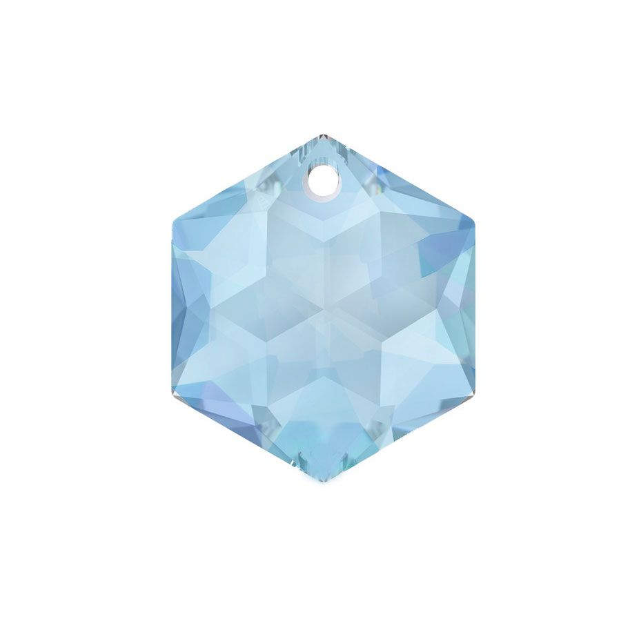 Swarovski Strass crystal 14mm Medium Sapphire Hexagon Star prism with One Hole