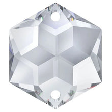 Load image into Gallery viewer, Swarovski Strass Crystal 28mm Clear Hexagon Star prism bead with Two Holes