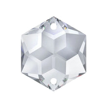 Load image into Gallery viewer, Swarovski Strass Crystal 22mm Clear Hexagon Star prism bead with Two Holes