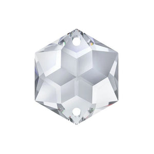 Swarovski Strass Crystal 20mm Clear Hexagon Star prism bead with Two Holes