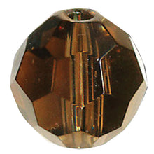 Load image into Gallery viewer, Swarovski Strass Crystal 10mm Black Diamond Faceted Round Bead with Hole Through