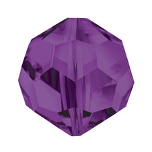 Load image into Gallery viewer, Swarovski Strass Crystal 8mm Violet Faceted Round Bead with Hole Through
