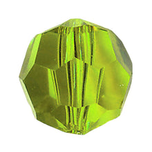Load image into Gallery viewer, Swarovski Strass Crystal 8mm Light Peridot Faceted Round Bead with Hole Through
