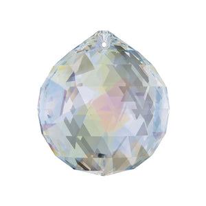 Swarovski Strass Crystal 20mm Aurora Borealis Faceted Ball prism