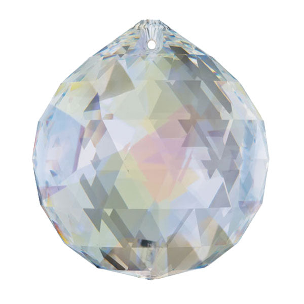 Swarovski Strass Crystal 30mm Aurora Borealis Faceted Ball prism