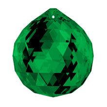 Load image into Gallery viewer, Swarovski Strass Crystal 30mm Emerald (Green) Faceted Ball prism