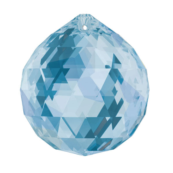 Swarovski Strass Crystal 30mm Medium Sapphire Faceted Ball prism