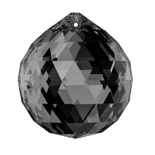 Load image into Gallery viewer, Swarovski Strass Crystal 30mm Silver Night Faceted Ball prism