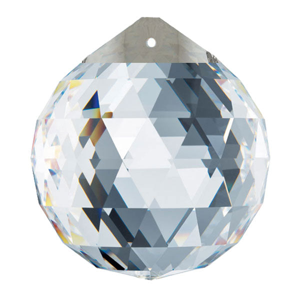 Swarovski Strass Crystal 40mm Clear with Silver Top Faceted Ball Prism