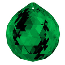 Load image into Gallery viewer, Swarovski Strass Crystal 40mm Emerald (Green) Faceted Ball prism