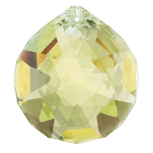 Swarovski Strass Crystal 40mm Light Topaz Faceted Ball prism