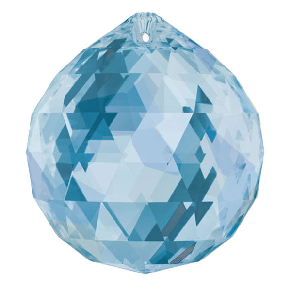 Swarovski Strass Crystal 40mm Medium Sapphire Faceted Ball prism