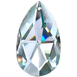 Almond Crystal 4 inch Clear Prism with One Hole on Top